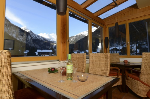 View from the Glocknerbar in the Winter - Hotel Heiligenblut