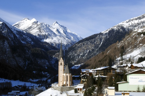 The church and the Grossglockner