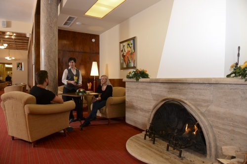 Fireplace in our lobby bar - Grandhotel Galya - Mátra