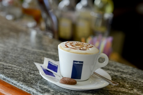 Capuccino in the Lobby Bar - Hunguest Hotel Pelion - Tapolca
